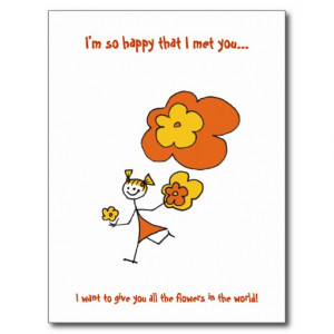 So Happy That I met You... Postcard