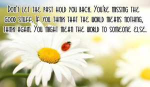 Don't Let The Past Hold You Back, You're Missing The Good Stuff