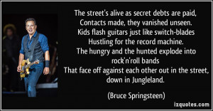 secret debts are paid, Contacts made, they vanished unseen. Kids flash ...