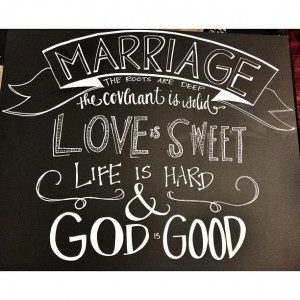 Marriage quote by John Piper -- wedding chalkboard custom signage ...