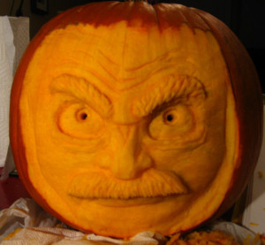 Funny Pumpkin Man Face