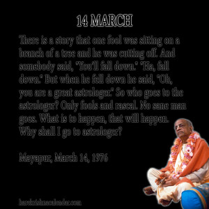 Srila Prabhupada Quotes For Month March 14
