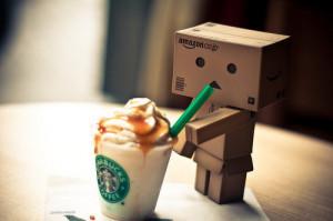 Starbucks caramel frapp. (extra-small)