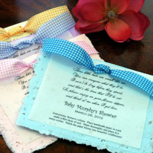 Personalized Baby Shower Plantable Seed Poem Favor- we think this is ...
