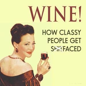 Wine - How Classy People... funny drinks mat / coaster (hb)