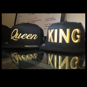 ... queen black gold description matching king and queen hats sold