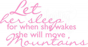 Nursery Wall Quotes | Vinyl Wall Quotes, Sleeping Baby Decals