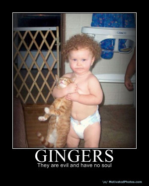 gingers no soul sign