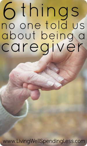 caregiver. An honest look at the challenges of caring for an elderly ...
