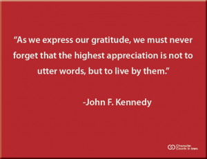 ... words, but to live by them. #character #quote #kennedy #jfk #integrity