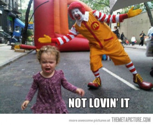Funny photos funny Ronald McDonald scary