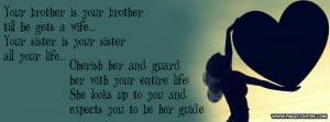 Brother Sister Quote Facebook Cover