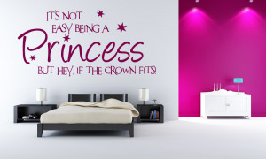 princess wall quotes and princess wall decals for the future queen in