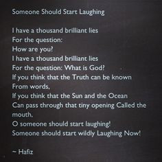 Hafiz #Poetry #Quotes #Laughing #God