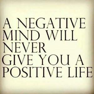 negative mind negative life