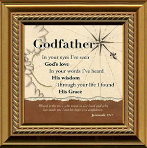 Godfather, Inspirational Saying Framed Gift Words of Gratitude ...