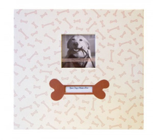 ... Page , Top Load 13.2 x 12.5 -Inch Scrapbook, Dog with Photo Opening