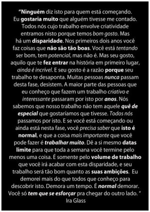 Ira Glass Quote - Português