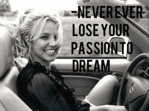 Britney Spears quote black and white
