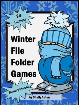winter file folder game activities. There are 20 printable winter ...