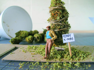 Christmas funny tree weed marijuana ganja pot bud