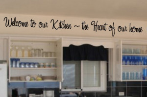 welcome_to_our_kitchen_5x45_vinyl_lettering_wall_quotes_words_sticky ...