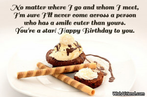 ... has a smile cuter than yours. You're a star! Happy Birthday to you