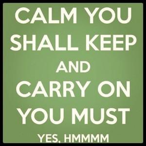 Yoda calm you shall keep