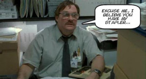 Milton Waddams (Stephen Root) in Office Space