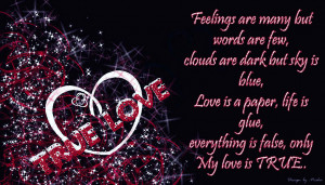 Awesome true love feelings wallpaper ! True love quotes for you ! True ...