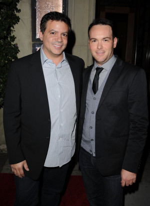 Producers Michael De Luca and Dana Brunetti arrive at Sony Pictures