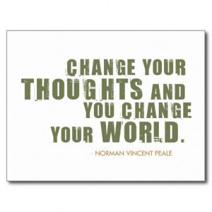 Norman Vincent Peale Quote Post Cards