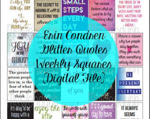 Glitter Quotes Squares for Erin Con dren Planners (Digital PDF File ...