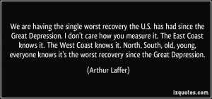 Depression Recovery Quotes More arthur laffer quotes