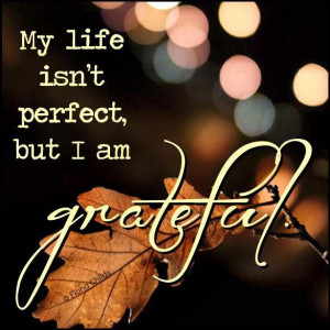 My Life Isn't Perfect, But I Am Grateful ~ Life Quote