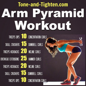 ... Pyramid Workout - The best exercises to tone and tighten your arms