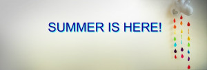 Summer is here quote cover