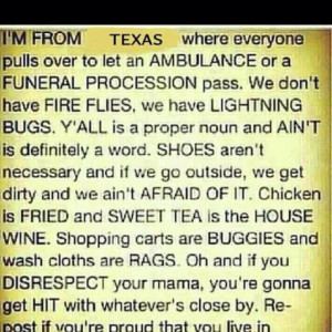 Proud to be from Texas