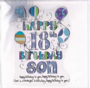 Happy 18th Birthday Son Son 18th Birthday Card Large