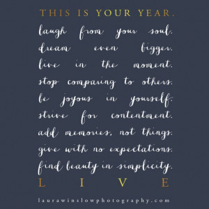 ... New Year Inspirational Print // Memorable Words Monday :: Laura