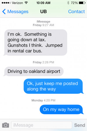 My Husband's Text from the LAX Shooting Puts Everything in ...