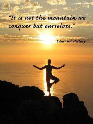 Sir Edmund Hillary - Mountain Quote