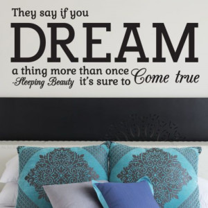 ... WALL STICKER, Sleeping Beauty, Disney Quote, Decal, WallArt, SS336