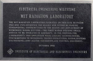 plaque thanking the MIT radiation lab and its workers for their ...