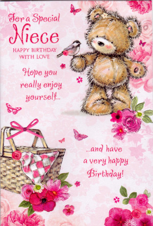 For A Special Niece Happy Birthday Card