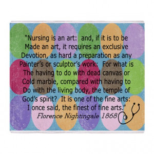 ... > Lpn Living Room > Florence Nightingale Quote Bag.PNG Throw Blanket