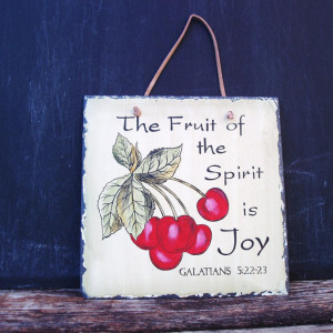 Vintage Slate Sign Bible Quote Kitchen Wall Hanging Tile Wall Art ...