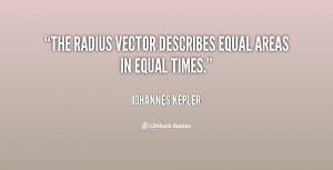 quote Johannes Kepler the radius vector describes equal areas in 50223