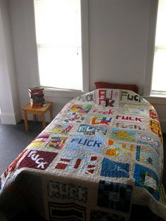 My friend's crafty community F*CK quilt. My square is the one with ...