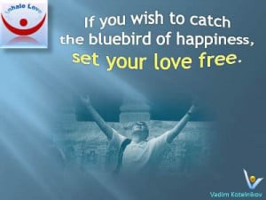 Bluebird of Happiness quotes: If you wish to catch the bluebird of ...